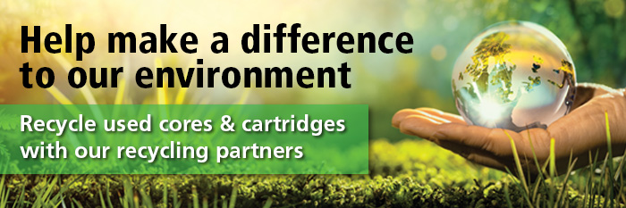 Recycle used cores & cartridges with our recycling partners