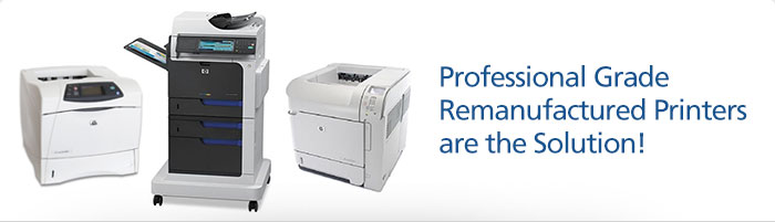 Katun certified refurbished HP Printers. Remanufactured, MPS ready HP printers that provide high quality prints without the high price.